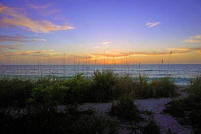 Sunset At Barefoot Beach Preserve In Naples, Fl Poster