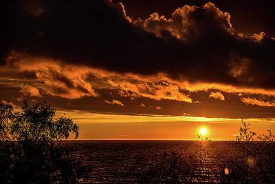 Poster featuring the photograph Sunset At Bay Harbor by Onyonet  Photo Studios
