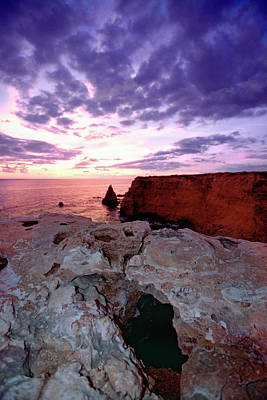 Sunset At Cabo Rojo Poster by George Oze