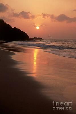 Sunset At Cacimba Do Padre - Fernando De Noronha - Brazil Poster by Maria Adelaide Silva