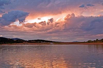 Sunset At Carter Lake Colorado Poster