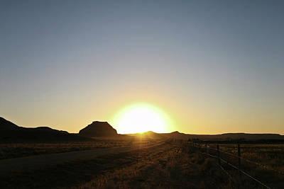 Sunset At Castle Butte Sk Poster