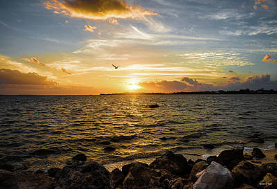 Sunset At Cedar Key Poster
