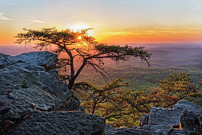Sunset At Cheaha Overlook 1 Poster
