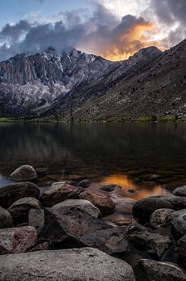 Sunset At Convict Lake Poster by Cat Connor