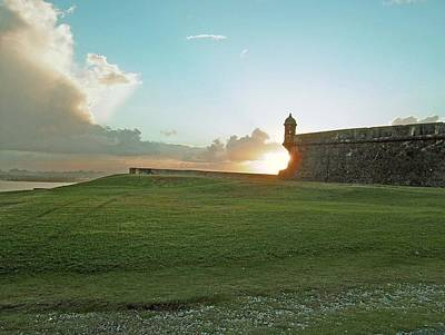 Poster featuring the photograph Sunset At El Morro by Gary Wonning