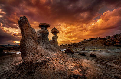 Sunset At Goblin Valley Poster