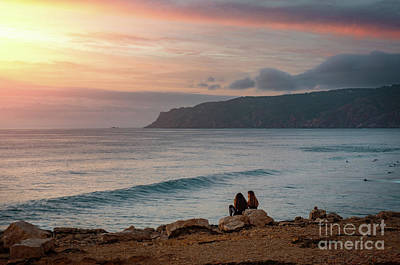 Sunset At Guincho Beach Poster