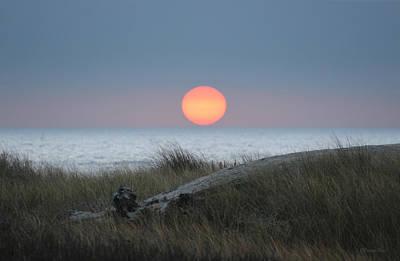 Sunset At Halfmoon Bay Poster