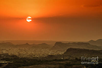 Poster featuring the photograph Sunset At Jodhpur by Yew Kwang