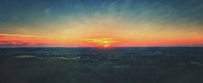Poster featuring the photograph Sunset At Lapham Peak #3 - Wisconsin by Jennifer Rondinelli Reilly - Fine Art Photography