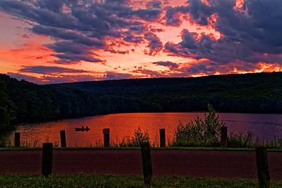 Sunset At Locust Lake State Park Poster