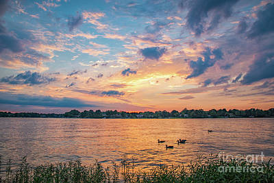 Sunset At Morse Lake Poster