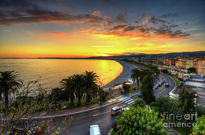 Poster featuring the photograph Sunset At Nice by Yhun Suarez