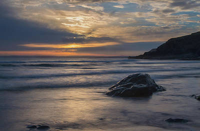 Sunset At Poldhu Cove Poster