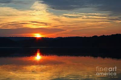 Sunset At Princess Point Poster by Barbara McMahon