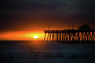 Sunset At San Clemente Pier Poster by MindGourmet