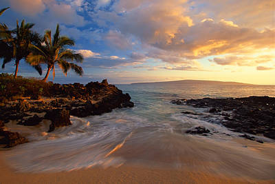 Sunset At Secret Beach Poster