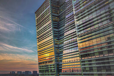 Sunset At Snowhill Poster
