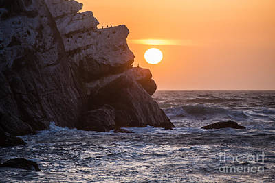 Sunset At Star Gazer Rock B3955 Poster