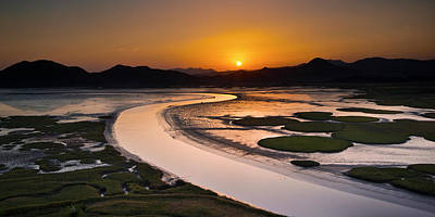 Sunset At Suncheon Bay Poster