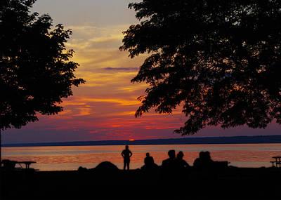 Sunset At Sylvan Beach Poster