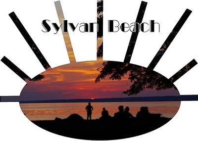 Sunset At Sylvan Beach - T-shirt Poster