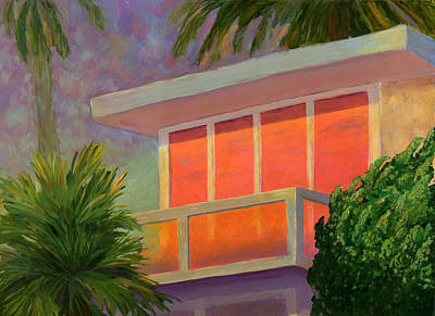 Sunset At The Beach House Poster by Karyn Robinson