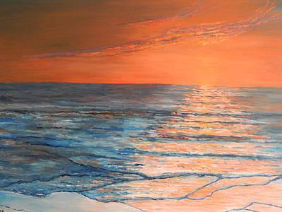 Sunset At The Beach Poster by Robert Schmidt
