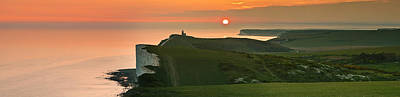 Sunset At The Belle Tout Lighthouse Poster