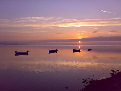 Sunset At The Estuary Poster by Martina Fagan
