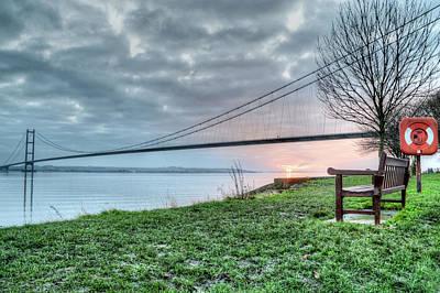 Sunset At The Humber Bridge Poster by Sarah Couzens