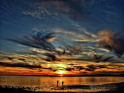 Sunset At The Waters Edge Poster