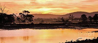 Sunset At Triabunna Tasmania Poster by Lexa Harpell