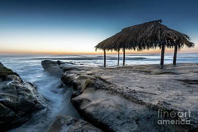 Sunset At Windansea Beach Shack Poster
