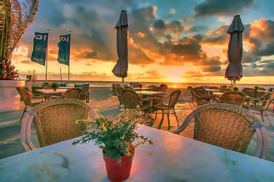 Sunset At Zandvoort Poster