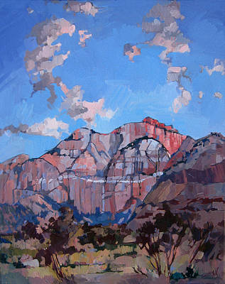Sunset At Zion Poster by Erin Hanson