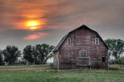 Sunset Barn Poster