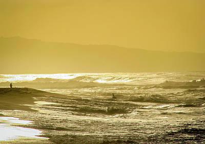 Sunset Beach Aglow  Poster