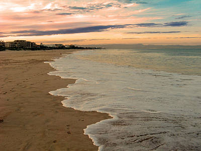 Poster featuring the photograph Sunset Beach by Riana Van Staden