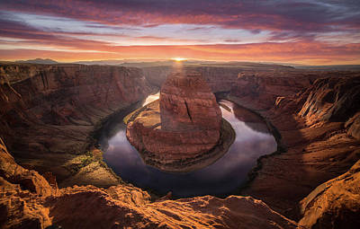 Sunset Blossom // Horseshoe Bend // Arizona   Poster