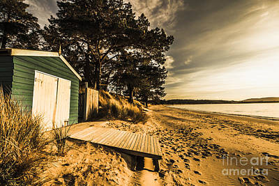Sunset Boat Shed Poster by Jorgo Photography - Wall Art Gallery