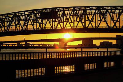 Sunset Bridge 3 Poster