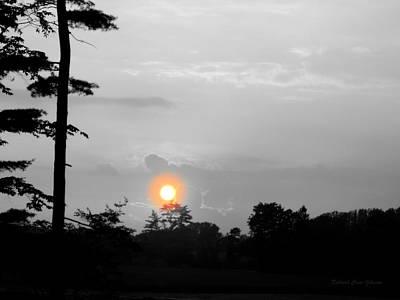 Sunset-bw Poster by Deborah  Crew-Johnson