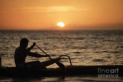 Sunset Canoe Poster by Sri Maiava Rusden - Printscapes
