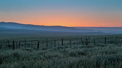 Sunset, Carrizo Plain Poster