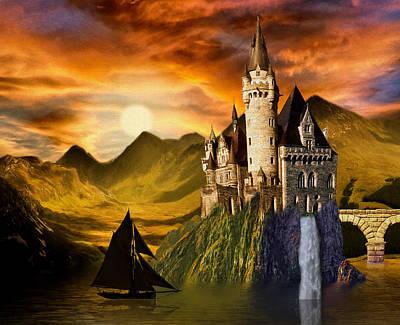 Sunset Castle Poster