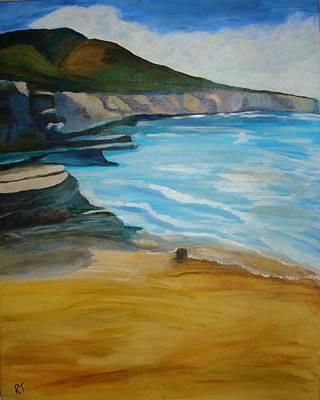 Sunset Cliffs Poster by Rita Tortorelli
