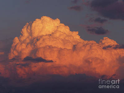 Sunset Cloud Poster by Phil Banks