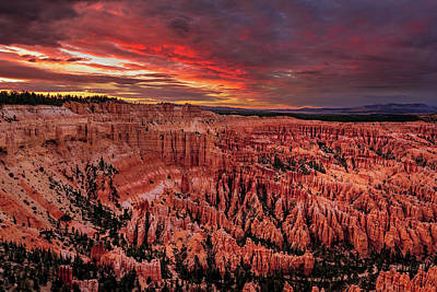 Sunset Clouds Over Bryce Canyon Poster